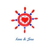 Hav & förälskelse Royaltyfri Bild