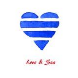 Hav & förälskelse 1 Royaltyfri Fotografi