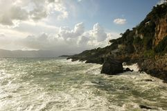 hav för 2 vykort Arkivfoton