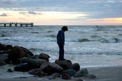 hav för afton iii arkivfoto