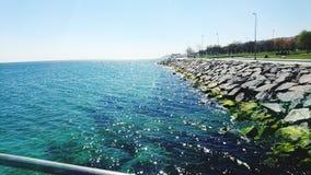 Hav för blått vatten Royaltyfria Bilder