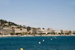 hav för cannes france medelhavs- panoramasemesterort Arkivbilder