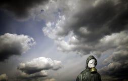 hav för gasmanmaskering Överlevnadtema royaltyfri fotografi
