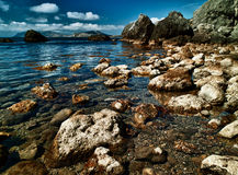 hav för kusthdrbild Arkivfoto