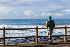 Hav för mananseendestrand Royaltyfri Foto