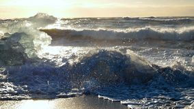 Hav för natur för isbergIsland glaciär arkivfilmer
