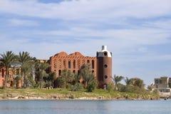 hav för semesterort för egypt el gouna rött Arkivbild