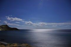 Hav för skönhet MİDNİGTH Chornogo. Royaltyfri Foto
