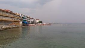 Hav för sol för Paralia Grekland sommarbeac Royaltyfria Bilder