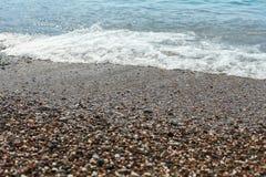 hav för strandvandringsledpir till waves för textur för hav för illustrationsdesign naturliga hav Arkivfoton