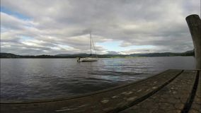 Hav för yacht för schackningsperiod för vattenfartygtid stock video