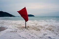 Hav flagga, hav, Thailand, våg, skum Royaltyfria Bilder