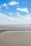 Hav i blå himmel Fotografering för Bildbyråer