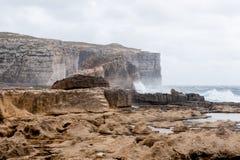 Hav i den Gozo ön, Malta Royaltyfria Bilder