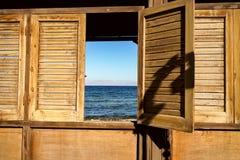 Hav i fönster Royaltyfri Bild