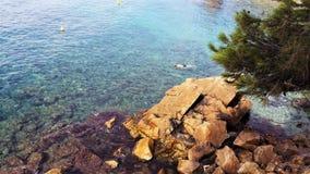 Hav i sommar Spanien Arkivfoto