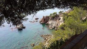 Hav i sommar Spanien Arkivfoton