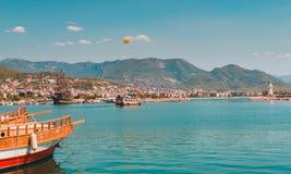 Hav i Turkiet Turkiska kustferier i Turkiet fotografering för bildbyråer