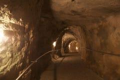 Hav Israel Rosh Anikra Tunnel Arkivfoto
