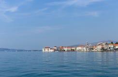 Hav Kastel Beskåda Sommar croatia royaltyfri bild