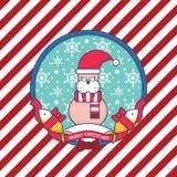 Hav Lion Christmas Greeting Card Royaltyfri Fotografi