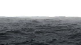 Hav med dimma Arkivbilder