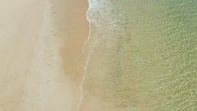 Hav med v?gor och den gula stranden lager videofilmer