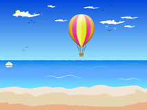 Hav och ballongen stock illustrationer