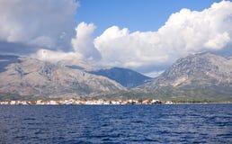 Hav och berg Arkivbilder