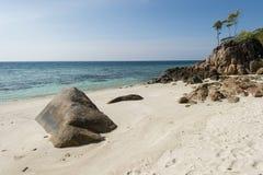 Hav och djungeln på den Tarutao medborgaren Marine Park som är sydlig av t Arkivbilder