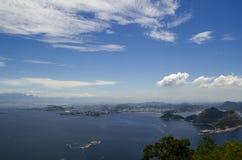 Hav och hav i Rio de Janeiro Arkivfoto
