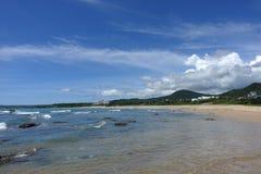 Hav och himmel i den södra fjärden Kenting arkivbilder