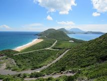 Hav och karibisk sikt Royaltyfri Bild