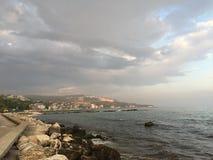 Hav och kustlinje Arkivbilder