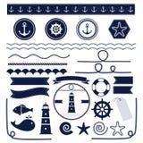 Hav och nautiska beståndsdelar Arkivbilder
