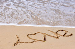 Hav och sand Royaltyfri Fotografi