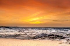 Hav och solnedgång Royaltyfri Foto