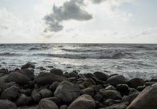 Hav och sten Arkivbilder