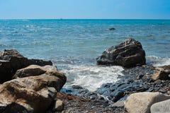 Hav och stenar Arkivbilder