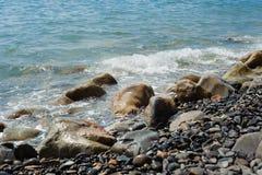 Hav och stenar Arkivbild