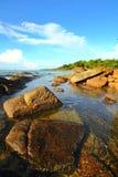Hav och strand i KohSamet Rayong Thailand Royaltyfri Foto