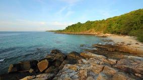 Hav och strand i KohSamet Rayong Thailand Arkivbilder