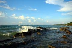 Hav och strand i KohSamet Rayong Thailand Royaltyfri Bild
