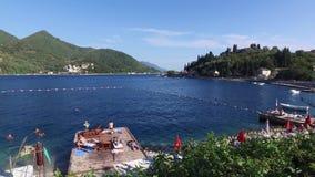Hav och strand i Montenegro arkivfilmer