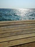 Hav och trä Arkivfoton