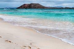 Hav och vulkan Arkivfoto