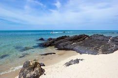 Hav på den Samila stranden Fotografering för Bildbyråer