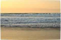 Hav på solnedgången Royaltyfria Bilder