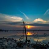 Hav på solnedgången Royaltyfri Bild