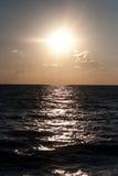 Hav på solnedgången Arkivbilder